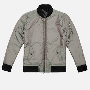 Iridescent Flight Jacket / Olive