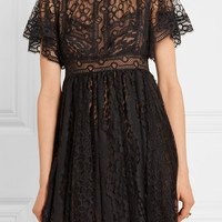Elie Saab - Guipure lace mini dress