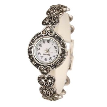 New Luxury Vintage Flower Pattern Bracelet Watch