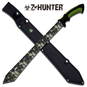Z-Hunter Skull Camo Tatical Machete - Double Injection Handle