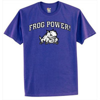 Texas Christian Horned Frogs NCAA Go Frogs! Purple T-shirt (Large)