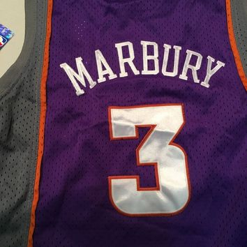 NWT STEPHON MARBURY #3 YOUTH PHOENIX SUNS PURPLE NIKE SWINGMAN JERSEY