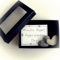Unique Valentines Day Card For Her - a heart shaped rock in a box