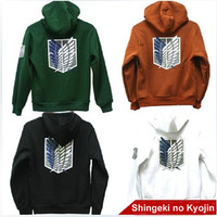 Attack on Titan Shingeki no Kyojin Scouting Legion Hoodie Cloak sweater cosplay