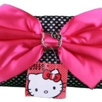 Clutch Evening Purse - Hello Kitty - Black & White Polka dot