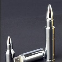 32 Gb USB Memory Stick Flash Pen Drive Mental Bullet Silver+64 Gb USB Mental Bullet Silver