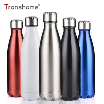 Transhome Vacuum Flask 750ML Swell Water Bottle Stainless Steel Water Bottles Sport Outdoor Travel Thermos Mug Insulation 12-24h