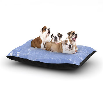 "Catherine Holcombe ""Welcome to my World Quote Indigo"" Dog Bed"