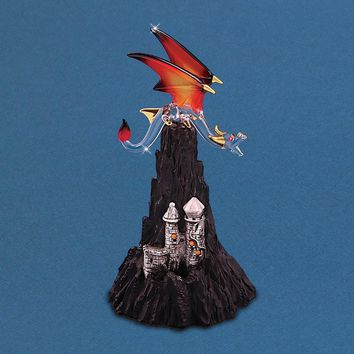 Glass Baron Dragon Castle Mountain Figurine