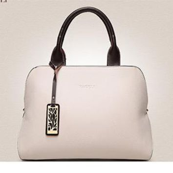 Bolsos Mujer Designer Genuine Leather Women Handbag High Quality Luxury Ladies Boston Bag Shoulder Crossbody Hand Bags Beige/red