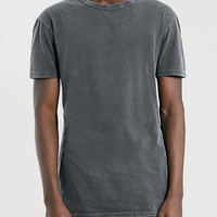 BLACK WASHED LONGLINE T-SHIRT - View All Sale - SALE