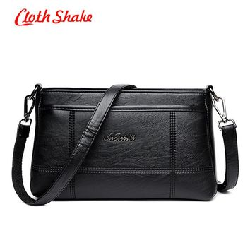 Cloth Shake New Style Elegant Retro Minimalist Crossbody Bag Fashion Small Women Girl Shoulder Bag Luxury Portable Handbag