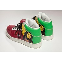 August New Arrival Limited Edition 100% Premium Leather Suede,Bob Marley, Rasta Sneakers Shoes with Epacket Shipping Wordwide.