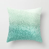 SEAFOAM Throw Pillow by Monika Strigel | Society6