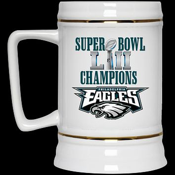 Super Bowl 52 Champions Philadelphia Eagles v2 22217 Beer Stein 22oz.