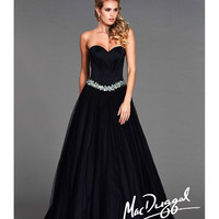 Mac Duggal 2014 Prom Dresses - Black Corset Sweetheart Ball Gown