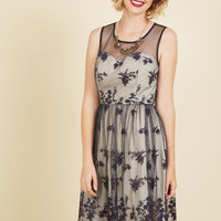 Cherished Charm Lace Dress in Navy | Mod Retro Vintage Dresses | ModCloth.com