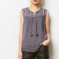 Arrossire Sequined Top by A Common Thread Dark Grey Xs Tops