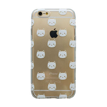 White Kitties iPhone 6 Plus Case