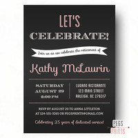 Retirement Party Invitation // Retirement Party Invites // Retirement Invitation // Printable Farewell Party Invitation // For Women
