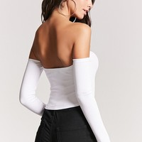 Ribbed Off-the-Shoulder Crop Top - Women - 2000197397 - Forever 21 Canada English