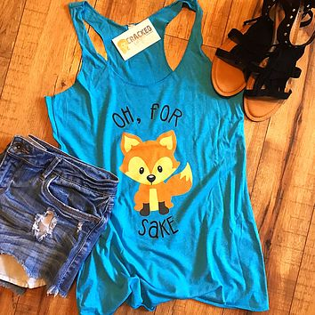 For Fox Sake Racerback Tank