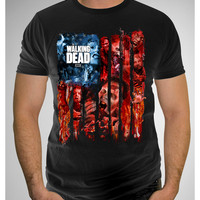The Walking Dead Flag Black Tee