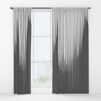 Grays Striped Window Curtains by duckyb