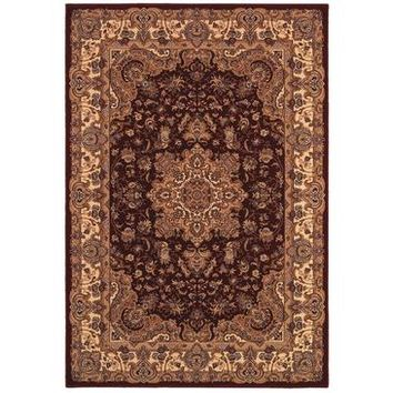 Couristan Himalaya Annapurna Rug In Antique Cream-Persian Red