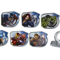 Marvel Avengers Super Hero Rings (6 pc) One Each of Thor, Iron Man, The Incredible Hulk, Captain America, Hawkeye, and Black Widow