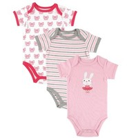 Hudson Baby Ballet Bodysuits 3-Pack | Affordable Infant Clothing