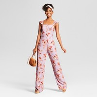 Women's Floral Print Sleeveless Button Front Jumpsuit - Xhilaration™