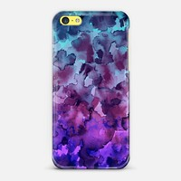 COLOR ME FLORAL 5 Bold Colorful Fine Art Watercolor Painting Ombre Modern Chic Design Abstract Flowers Blue Turquoise Lavender Purple Elegant Girly Pattern iPhone 6 case by Ebi Emporium | Casetify