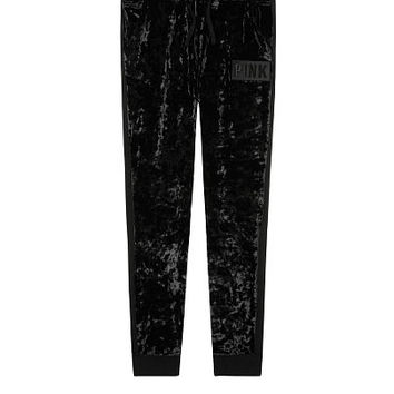Velvet All Over Skinny Jogger - PINK - Victoria's Secret