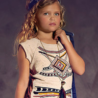Jak & Peppar Hi Low Tunic for Girls Joplin Red