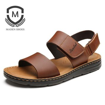 6ea8c209b Summer New Men sandals Rome Genuine Leather Open toed all purpos