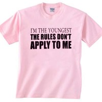 the rules don't apply to me light pink T Shirt Size S,M,L,XL,2XL,3XL