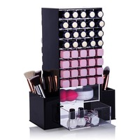 Cosmetic Rotating Tower with 80 Lipstick Slots