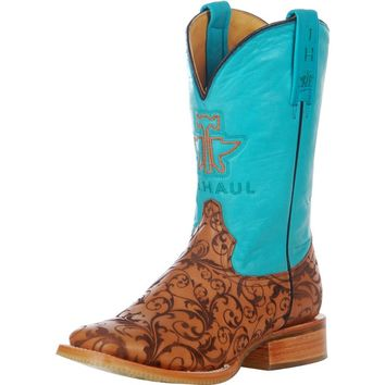 Tin Haul Embossed Scroll 11 Top Cowgirl Boot
