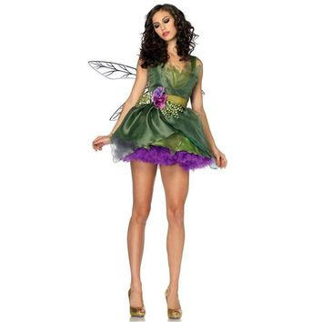 Fairy Tinkerbell Women Halloween Party Costume Dress