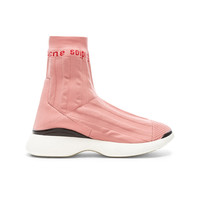 Acne Studios Batilda Sock Sneakers in Pink & White | FWRD
