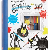 Boy's 'Draw with Scribbles and Ink' Drawing & Paint Book