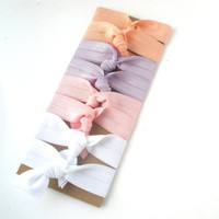 Hair Ties - Bloom & Bling Bands - Ballerina (Set of 8) Hair Ties - Pink, Purple, Peach, White, Ponytail, Pigtails