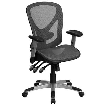 Mid-Back Mesh Executive Swivel Office Chair with Mesh Seat and Back and Triple Paddle Multi-Function Control