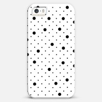 Pin Point Polka Dot Black iPhone 5s case by Project M | Casetify