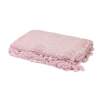 Pink Heart Honeycomb Cotton Baby Afghan Throw Blanket