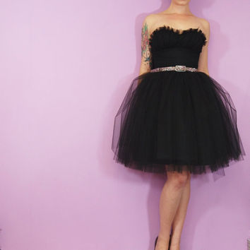Black Tulle Prom Dress - Made to Order