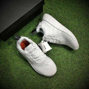 LMFON Ready Stock' Adidas NMD R2 Boost 'ALL WHITE' Men Women Running Shoes ¡°BY9914¡±