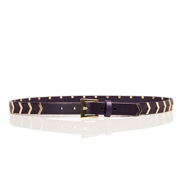 Hayden Chevron Stud Hip Belt