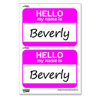 Beverly Hello My Name Is - Sheet of 2 Stickers